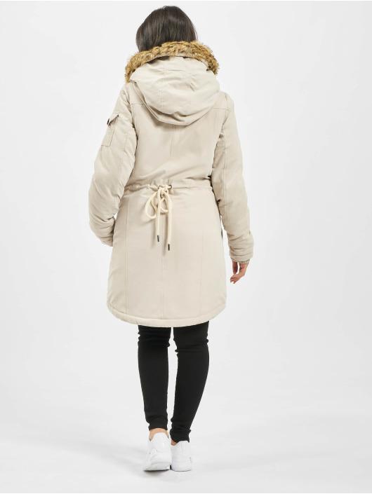 Eight2Nine Płaszcze Fake Fur bezowy