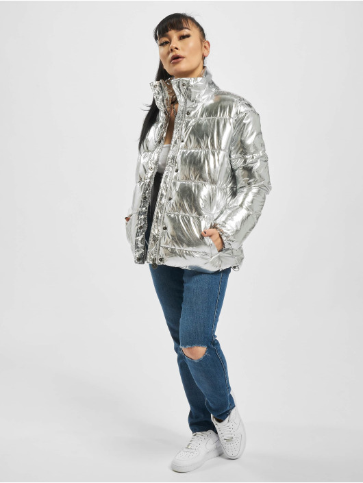 Eight2Nine Puffer Jacket Shiny silver