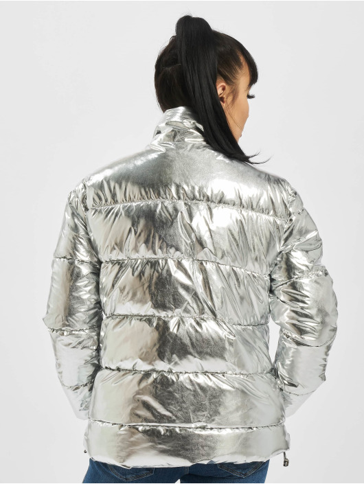 Eight2Nine Puffer Jacket Shiny silver colored