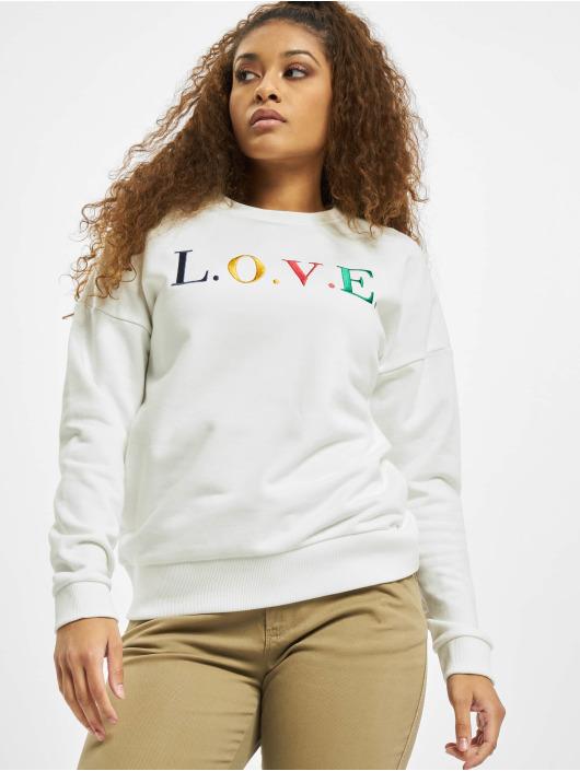 Eight2Nine Pullover Love weiß