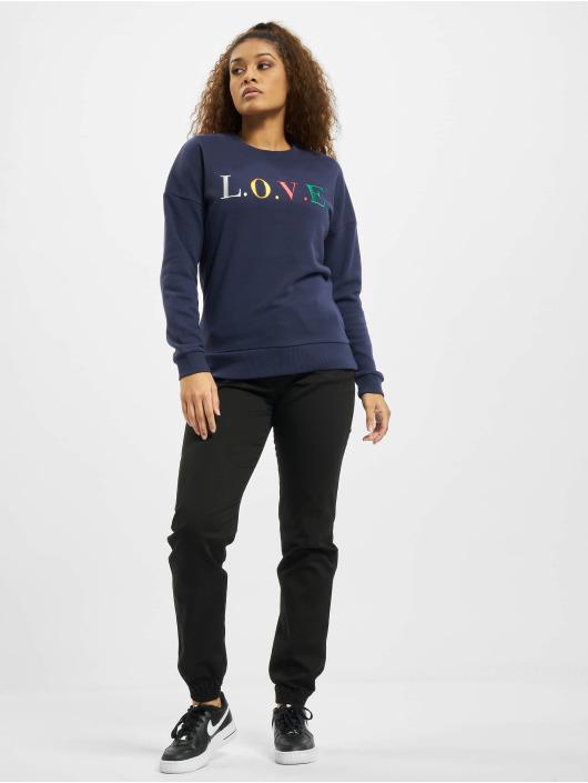 Eight2Nine Swetry Love niebieski