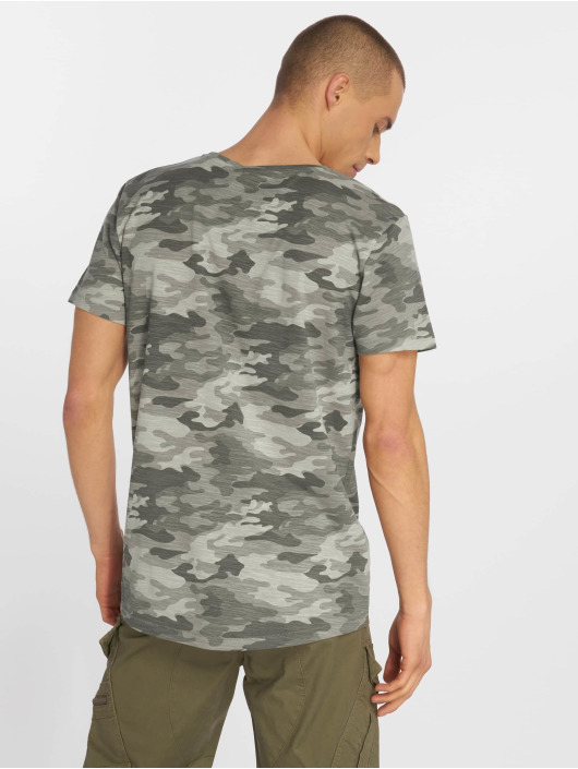 Eight2Nine t-shirt Camo grijs