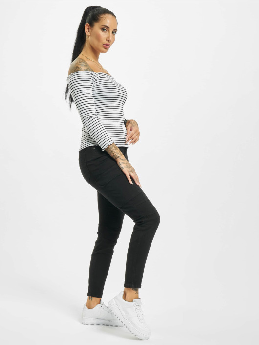 Eight2Nine T-Shirt manches longues 3/4 Off Shoulder blanc
