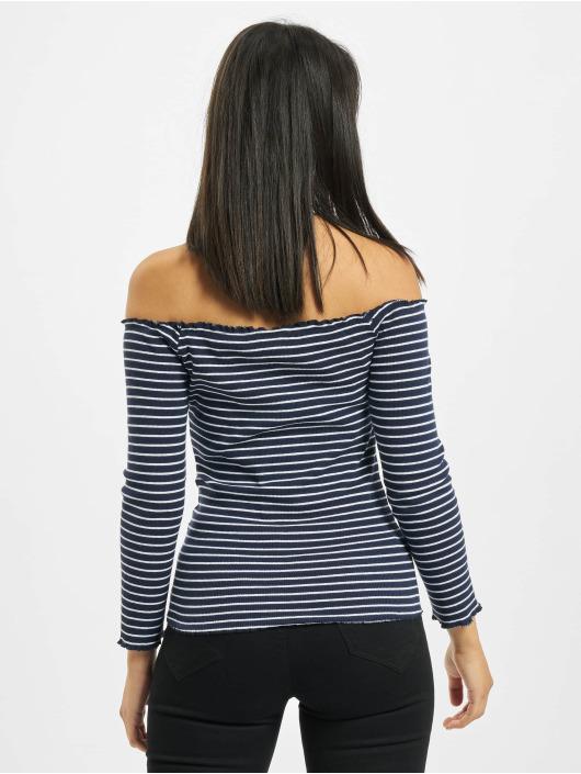 Eight2Nine T-Shirt manches longues 3/4 Off Shoulder bleu