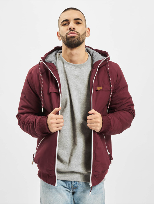 Eight2Nine Transitional Jackets Hooded red