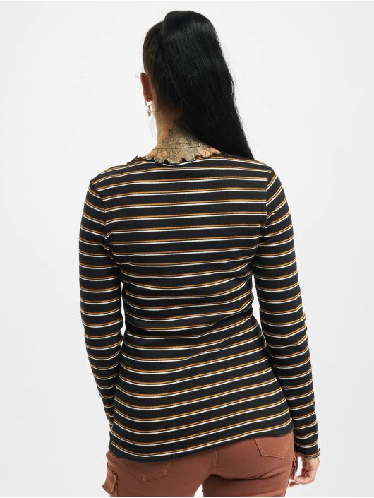 Eight2Nine Tričká dlhý rukáv Double Stripe èierna