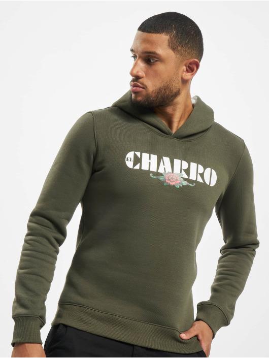 El Charro Hoody PUEBLO olijfgroen