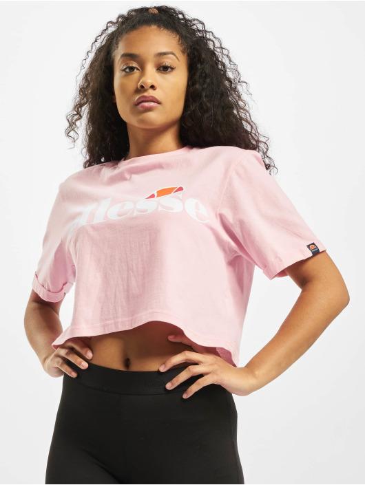 Ellesse T-shirts Alberta Crop rosa