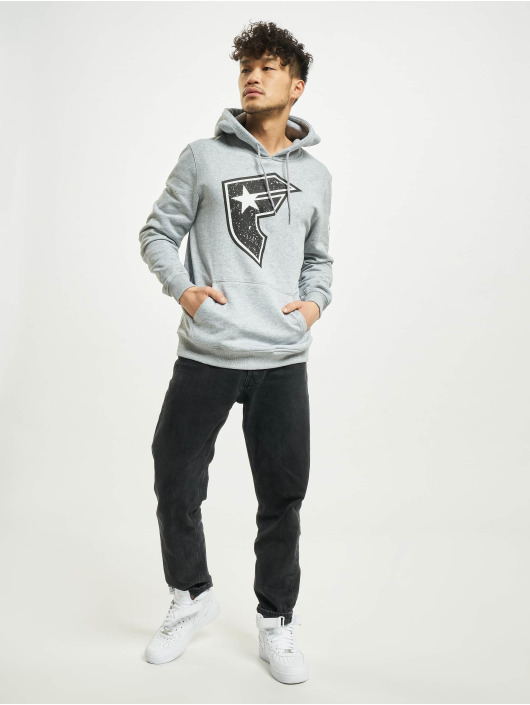 Famous Stars and Straps Hoodie Composition gray