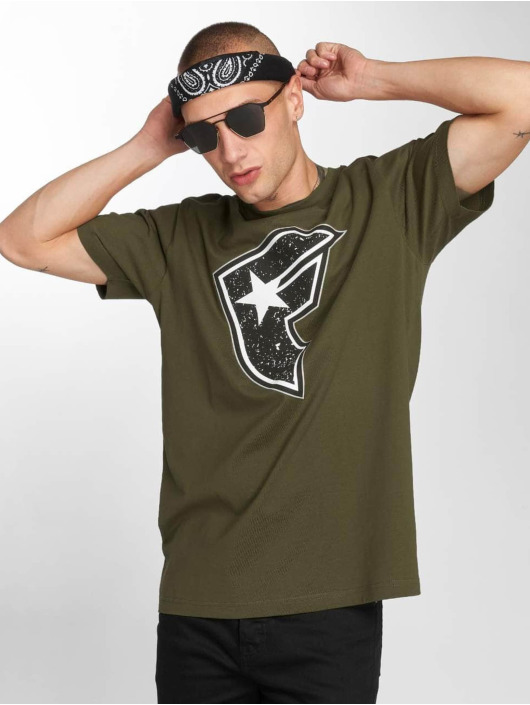 Famous Stars and Straps T-Shirty Composition oliwkowy