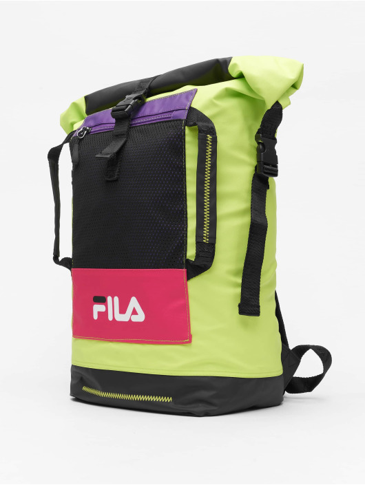 FILA Backpack Urban Line Frosted Pu Rolltop black