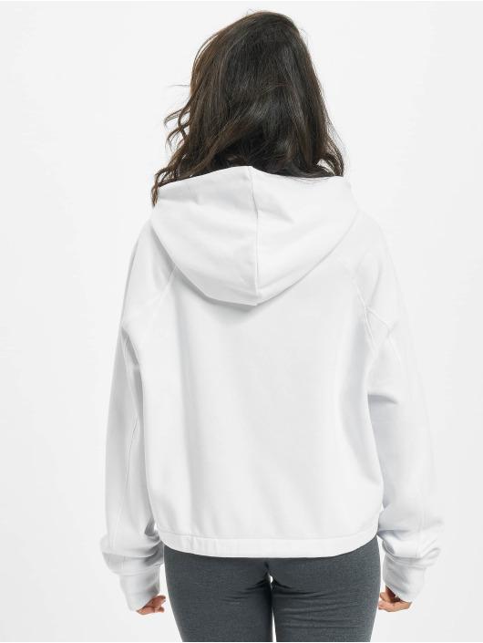 FILA Bluzy z kapturem Bianco Elaxi Cropped bialy