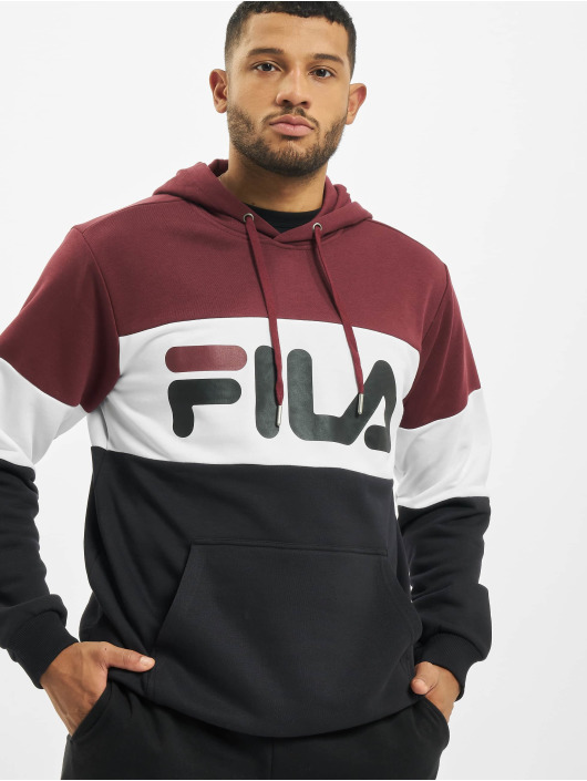 FILA Bluzy z kapturem Bianco Night Blocked czerwony