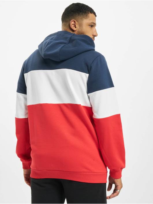 FILA Hoodie Bianco Night Blocked red
