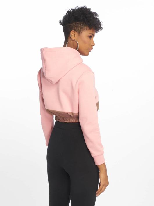 FILA Hoody Dora Iridescent Fleece Mix Crop pink