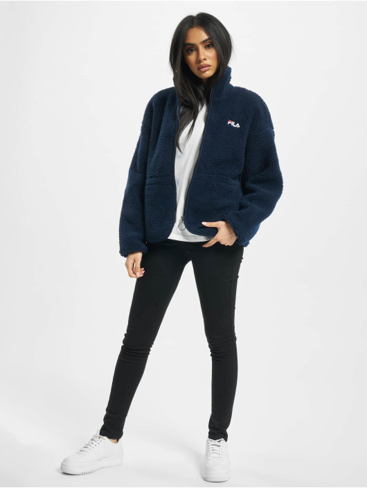 FILA Lightweight Jacket Bianco Sari Sherpa Fleece blue