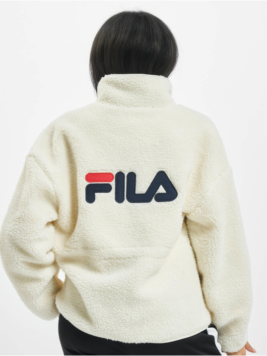 FILA Lightweight Jacket Bianco Sari Sherpa Fleece white