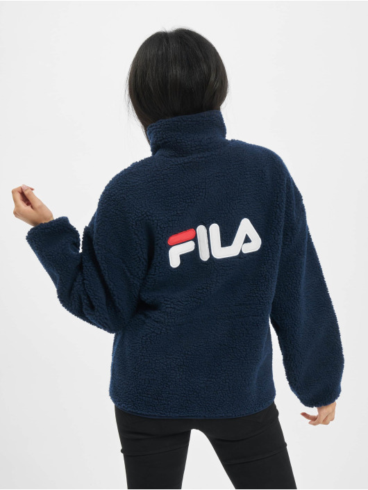 FILA Prechodné vetrovky Bianco Sari Sherpa Fleece modrá