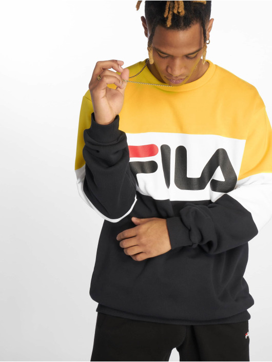 Fila Urban Line Straight Blocked Sweatshirt Black/Empire Yellow/Bright White