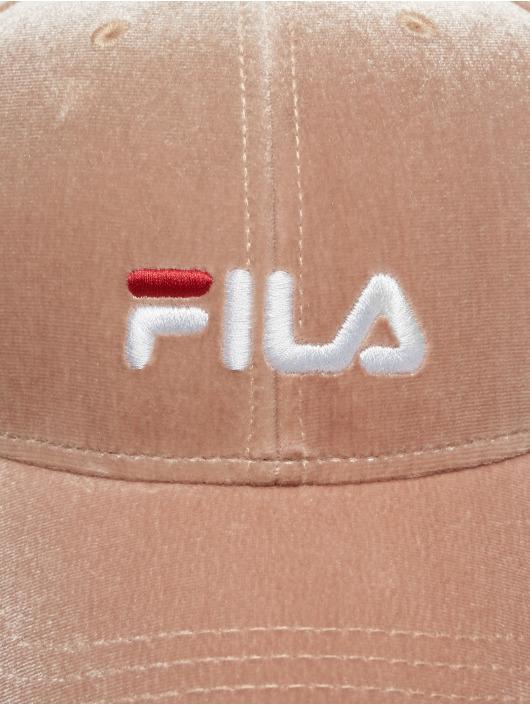 FILA Snapback Caps Line Panel Velvet roosa