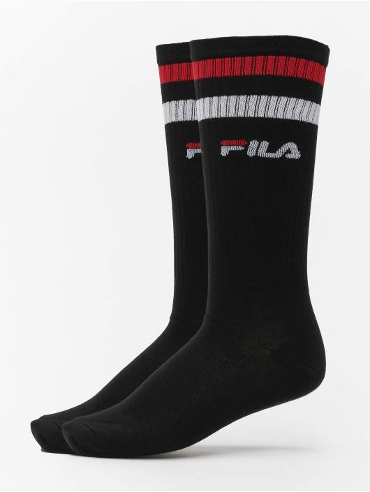 FILA Socken Basket 2 Pack schwarz