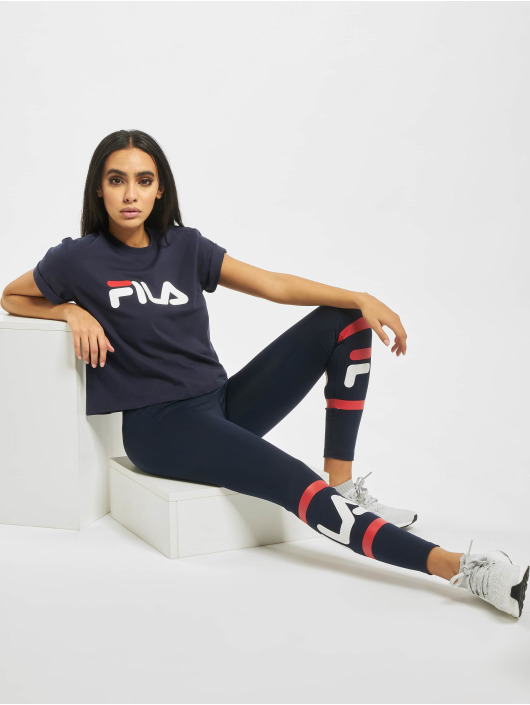 FILA T-shirt Line Cropped Vivika blu