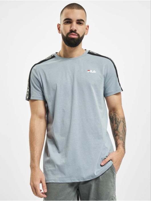 FILA T-Shirt Bianco Tavorian Taped blue