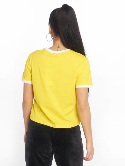 FILA T-Shirt Line Ashley Cropped gelb