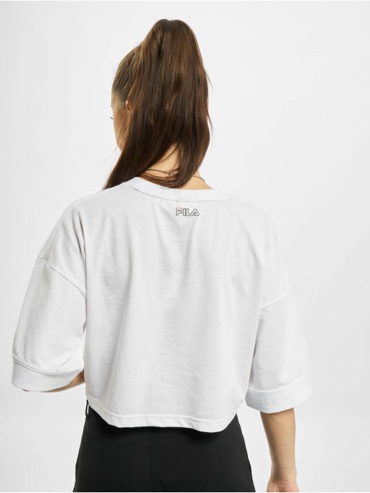 FILA T-Shirt Rosso Lamia white