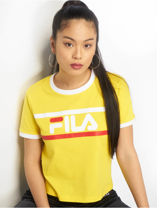 FILA T-skjorter Line Ashley Cropped gul