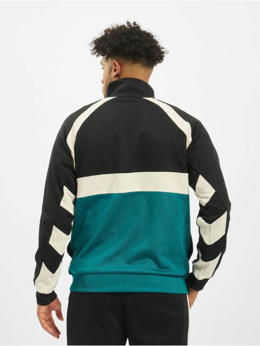 Fila Urban Line Oligert Half Zip Sweatshirt EvergladeBlackWhitecap Gray