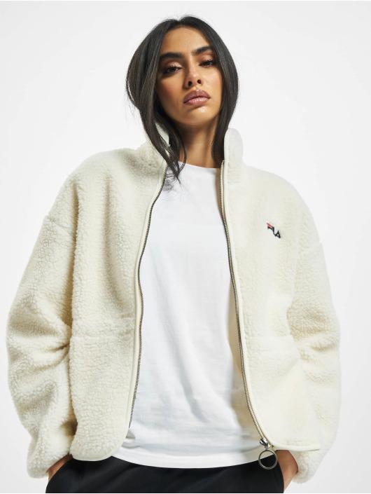FILA Übergangsjacke Bianco Sari Sherpa Fleece weiß