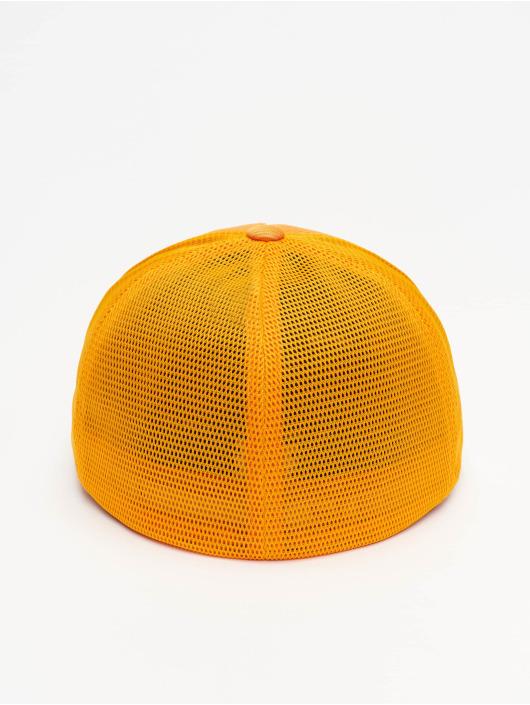 Flexfit Casquette Flex Fitted Jaquard Camo orange