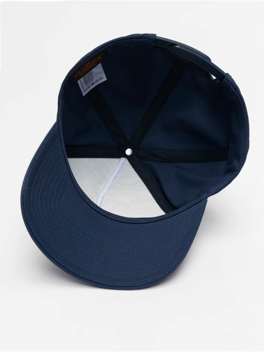 635239 Flexfit Casquette Strapback panel Curved 5 Bleu Snapbackamp; Classic CxoedB