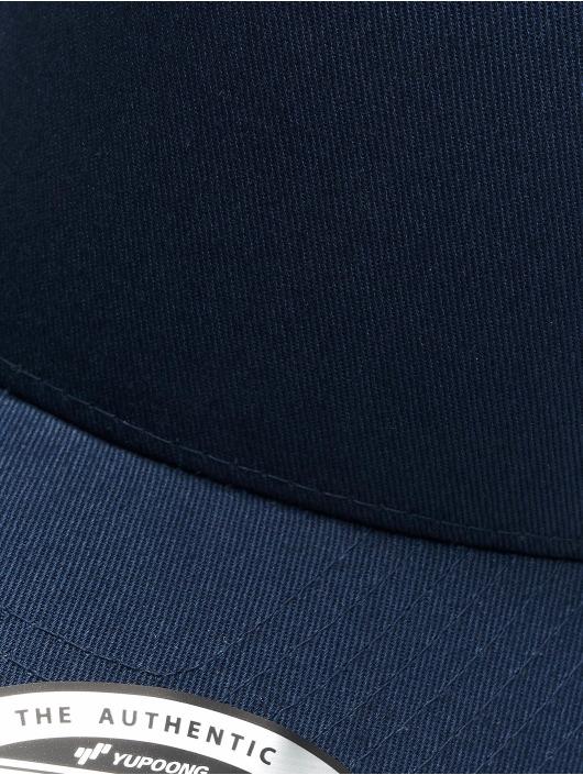 Flexfit Casquette Snapback & Strapback 5-Panel Curved Classic bleu