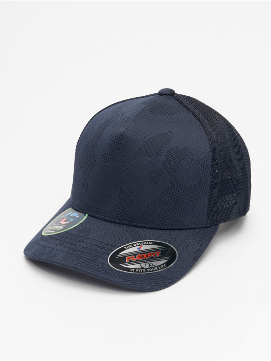 Flexfit Flexfitted Cap Jaquard Camo blauw