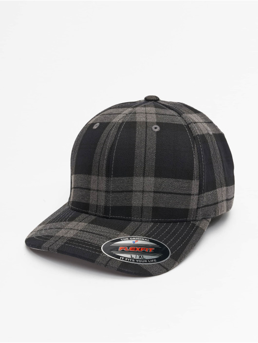 Flexfit Flexfitted Cap Tartan Plaid czarny