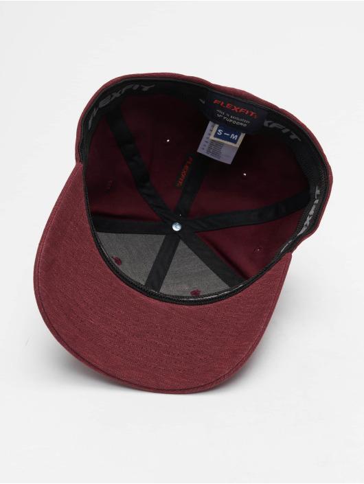 Flexfit Flexfitted Cap Natural Melange czerwony