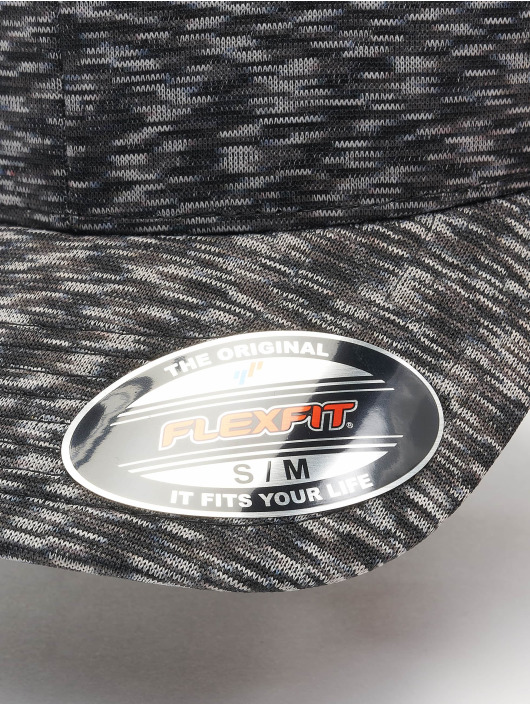 Flexfit Flexfitted Cap Stripes Melange grau