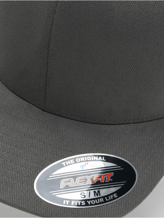 Flexfit Flexfitted Cap Twill Brushed grijs
