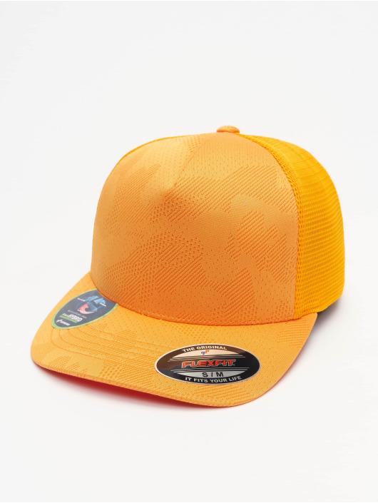 Flexfit Flexfitted Cap Jaquard Camo oranžová