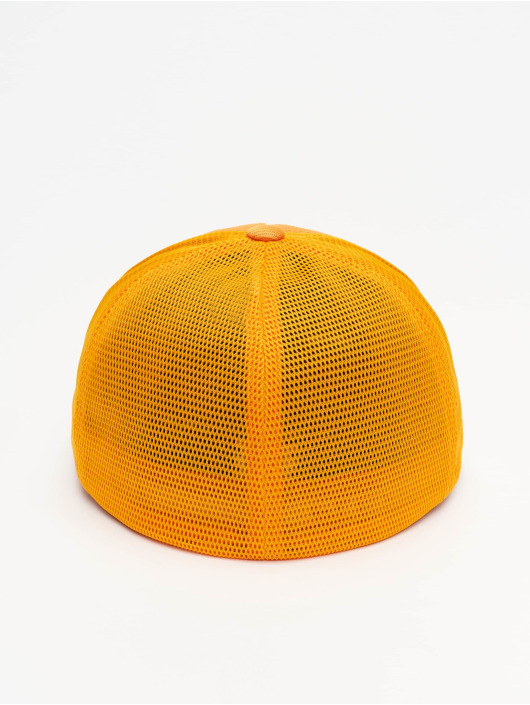 Flexfit Flexfitted Cap Jaquard Camo oranžový