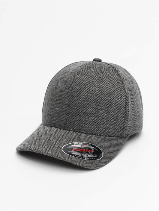 Flexfit Flexfitted Cap Heringbone Melange szary