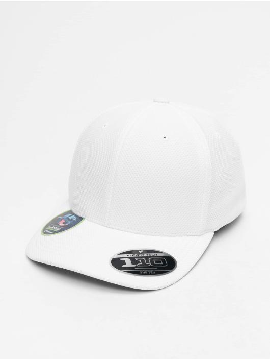 Flexfit Snapback Velcro Hybrid biela