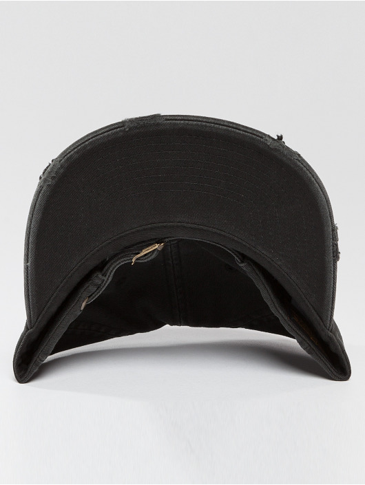 Flexfit Snapback Cap Low Profile Destroyed black