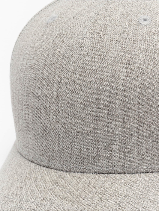 Flexfit Snapback Cap YP Classics 5-Panel Premium Curved Visor grau
