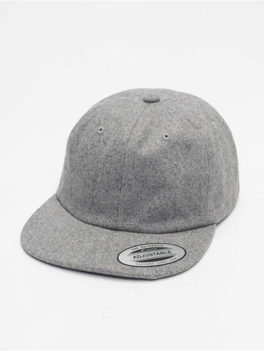 Flexfit Snapback Cap Melton grau