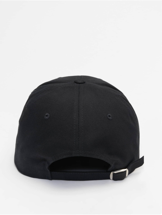 Flexfit Snapback Cap 6-Panel Curved Metal schwarz