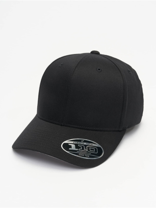 Flexfit Snapback Cap Wooly Combed Adjustable schwarz