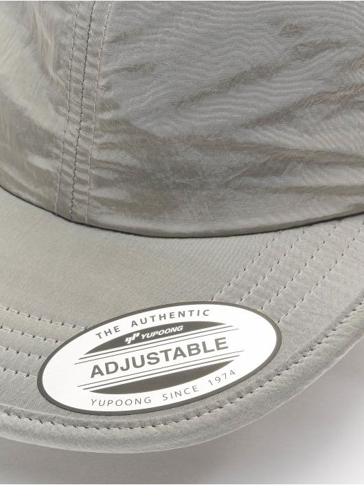 Flexfit Snapback Cap Adjustable Nylon silberfarben